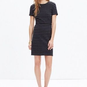 Madewell | Striped Upstage Black Dress 4